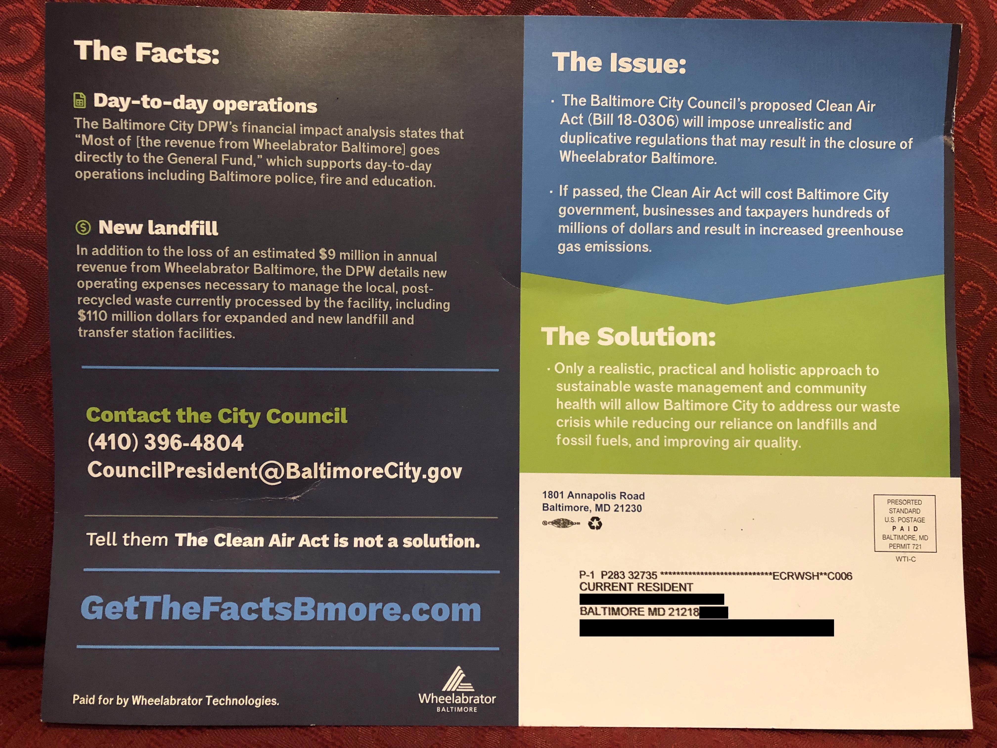 Wheelabrator Lies – Clean Air Baltimore